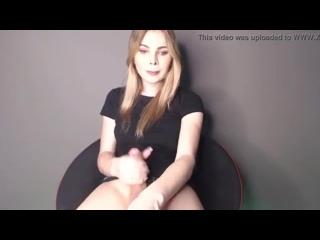 Beautiful Blonde Russian Shemale Girl Masturbating (01/25/2020)