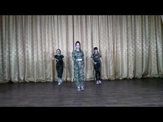 "Объединение ""Мир танца"". (Группа ""Звездопад""). Танец Армия.  Ко Дню защитника отечества."