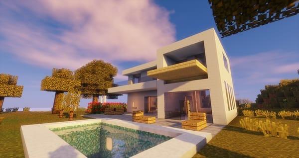modern house minecraft - HD1920×1017
