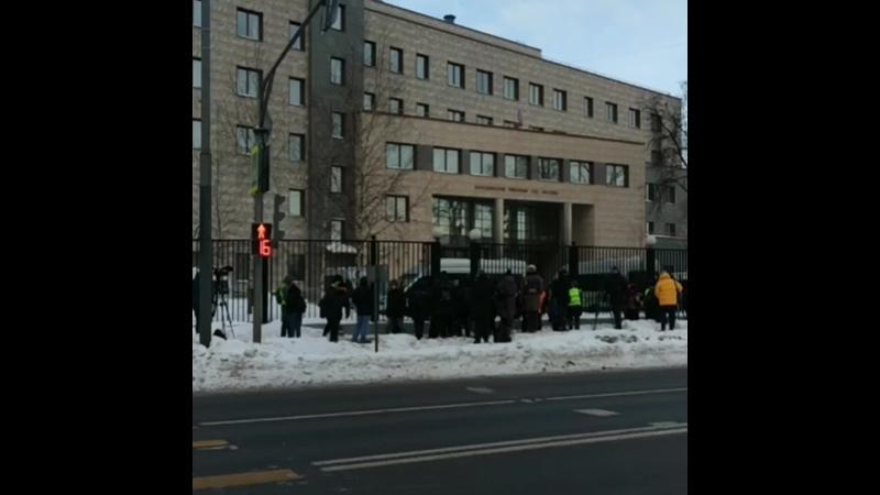 Обстановка у Бабушкинского суда.