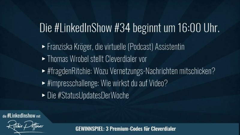 LinkedInShow 34 mit Franziska Kröger Thomas Wrobel