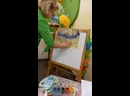 Картина Елки на фоне 2