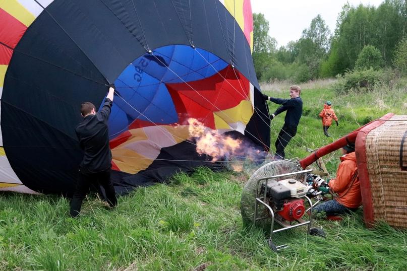 Подготовка к полету: надувание шара