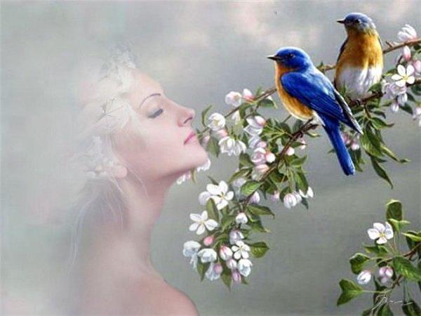 Уходит март Уходит март, оставив нам цветы и переполненные силой жизни почки. Полны певцов деревья и кусты. Несут траву оттаявшие кочки. Бегут ручьи в мечтательный апрель. Ледовый панцирь