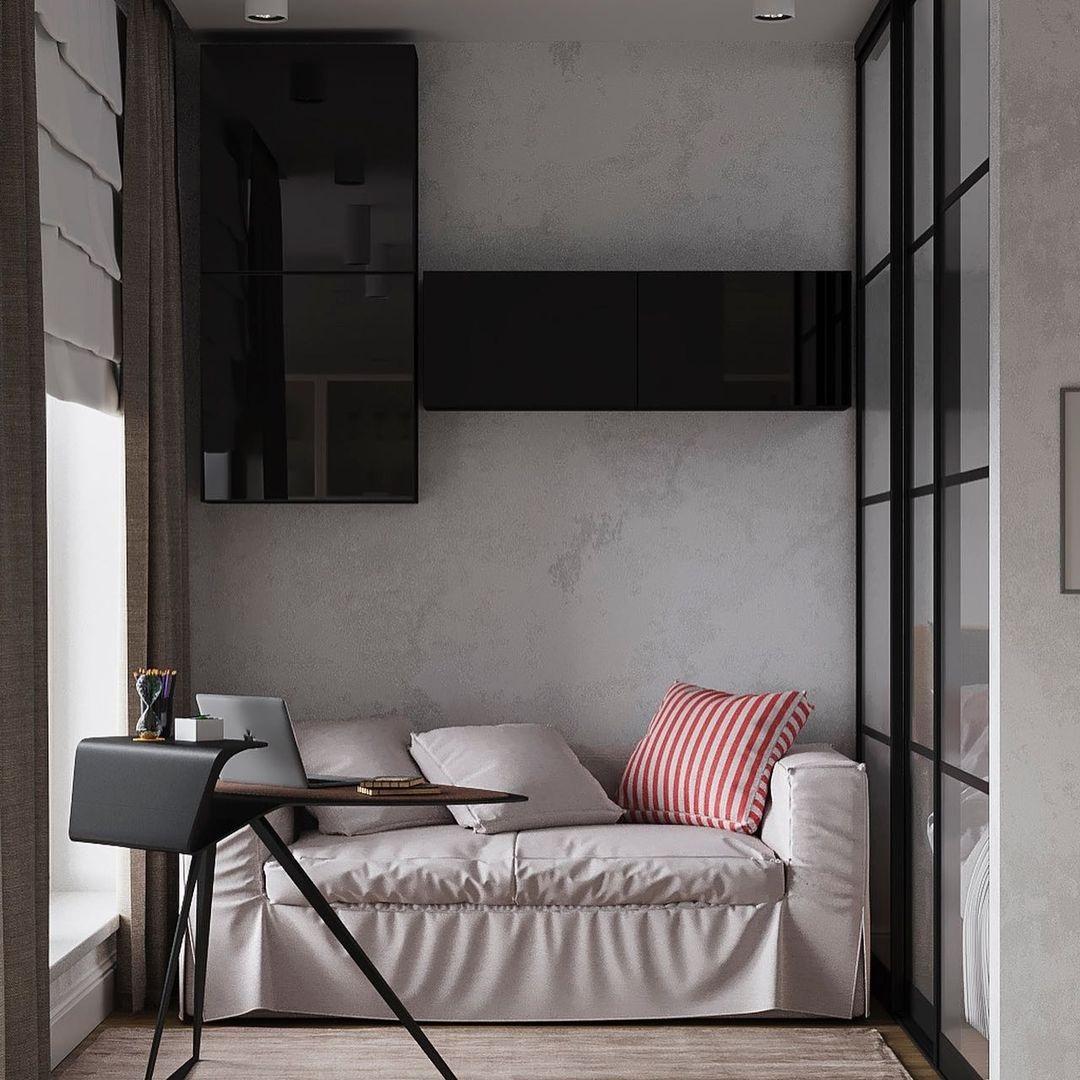 Какая перегородка между кухней и гостиной-спальней больше нравится: глухая или из металлических прутьев?