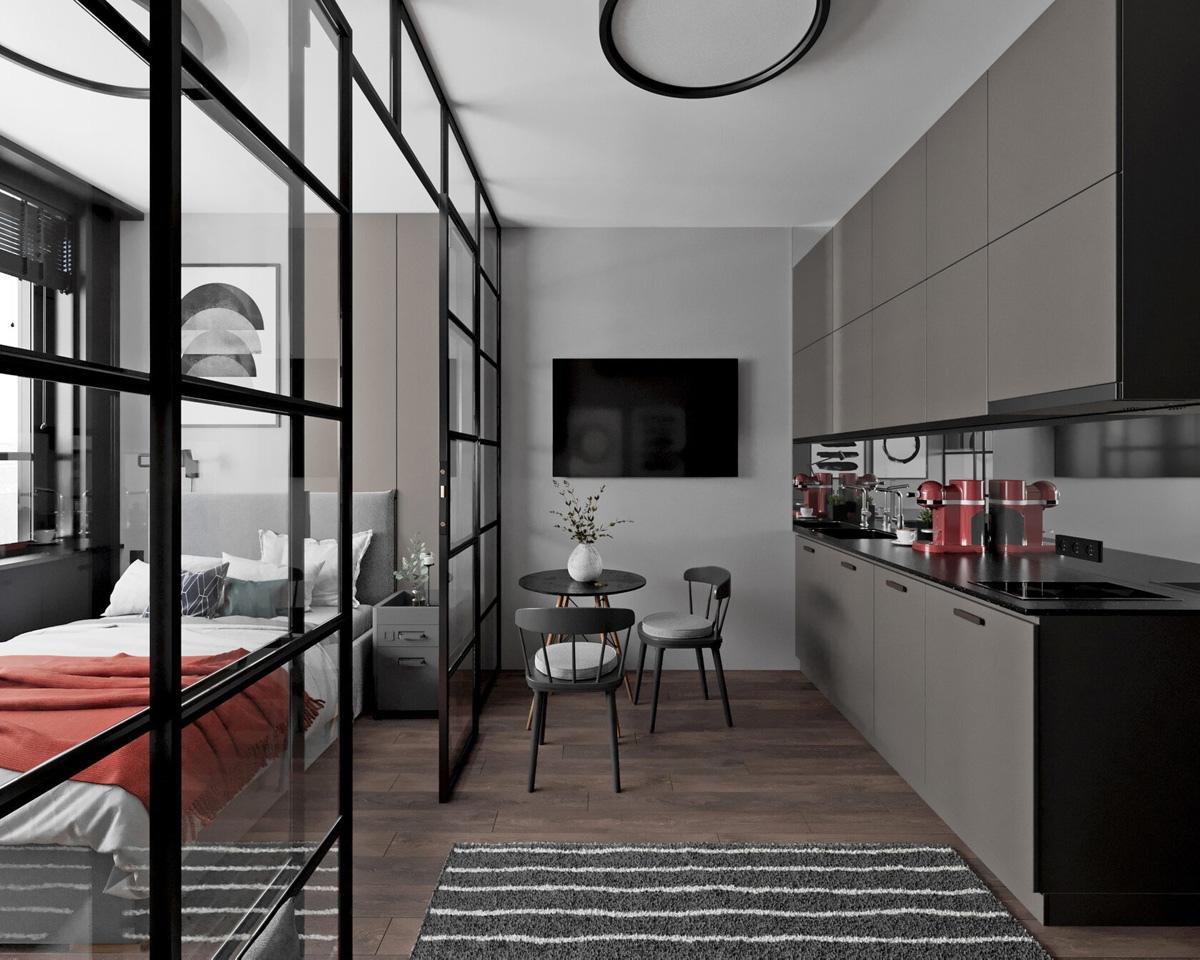Проект квартиры-студии 28 кв.