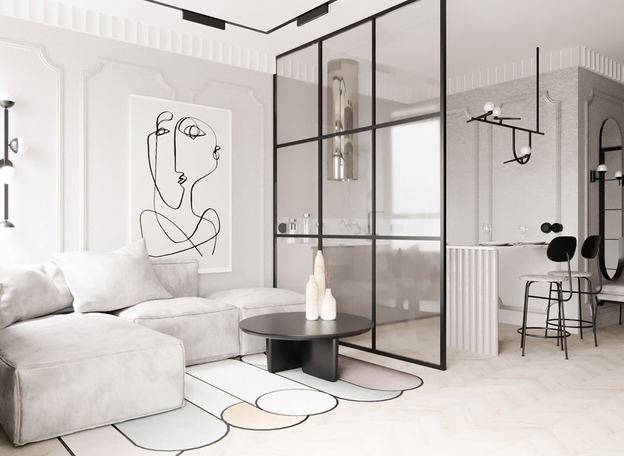 Проект студийной квартиры 30 кв.