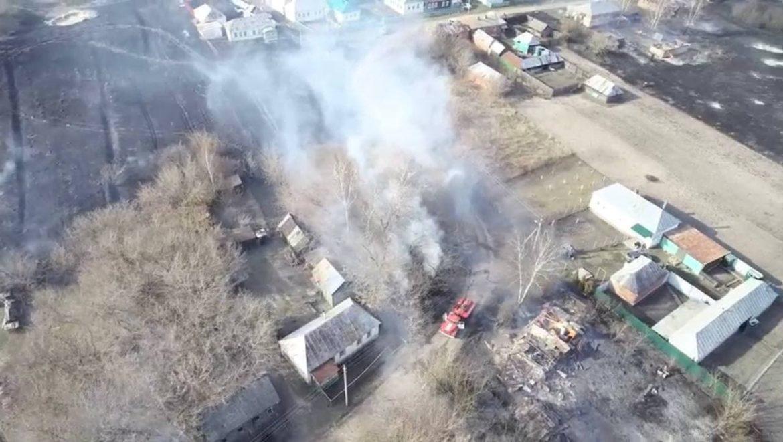 В Сосновском районе пожар уничтожил 21 дом
