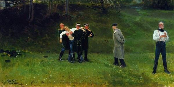 Художник Илья Репин. Дуэль. 1896