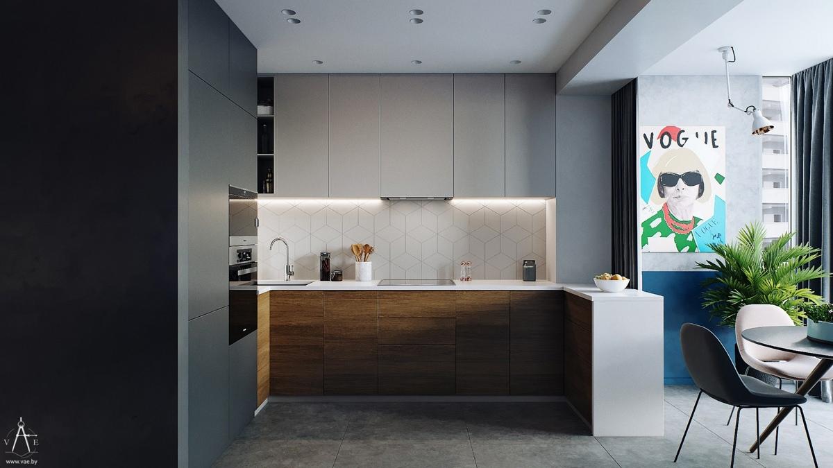 Проект квартиры открытой планировки 47 кв.