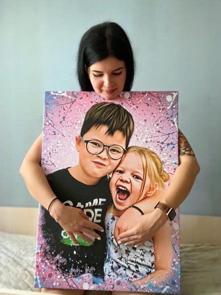 Портрет на холсте - подарок с ВАУ-эффектом! Экономь 50% на подарки к Новому Году Идеально для мамы, друзей, для детей и родственников! По цене букета цветов! Обращаться по ссылке: