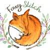 Foxystitch, равномерка, мулине ДМС нарезка