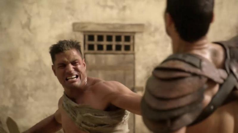 Крикс пытается доказать что он может сражаться Спартак Кровь и песок