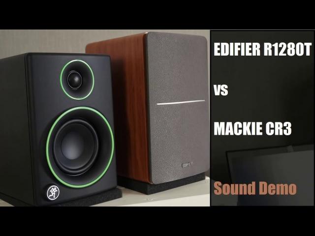 Mackie CR3 vs Edifier R1280T - Sound Demo