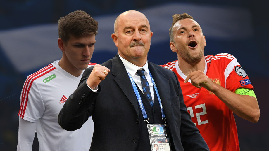 Александр Соболев, Станислав Черчесов и Артем Дзюба