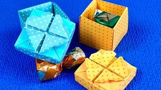 КРАСОТА из БУМАГИ своими руками.diy.подарки поделки на ДЕНЬ МАТЕРИ.идеи 8марта. Коробочка из бумаги