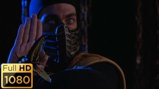 Рейден раскидывает Саб-Зиро и Скорпиона. Смертельная битва.