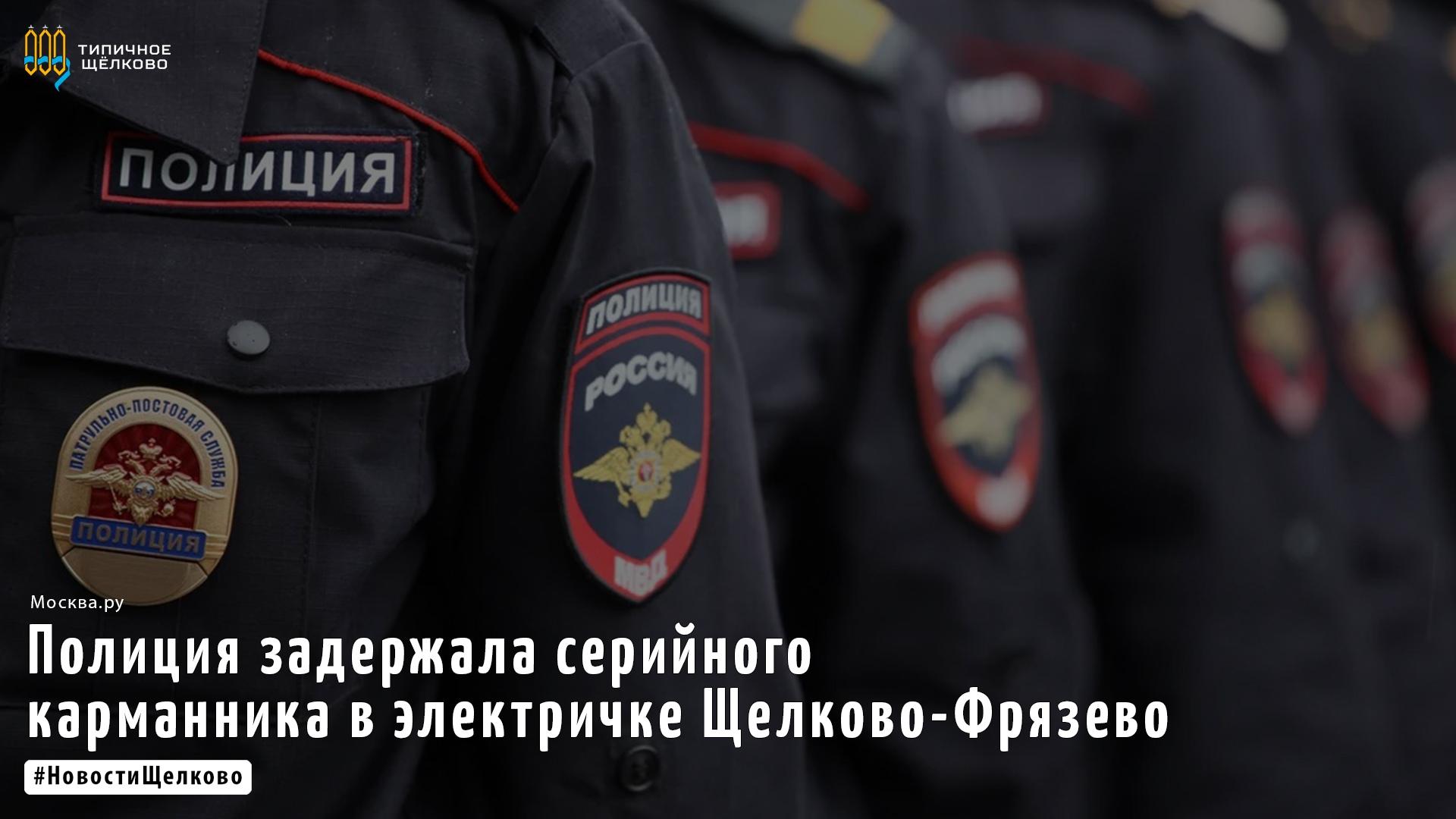 Полиция на транспорте задержала подозреваемого в разбойном нападении на пассажира электрички Щелково-Фрязево.