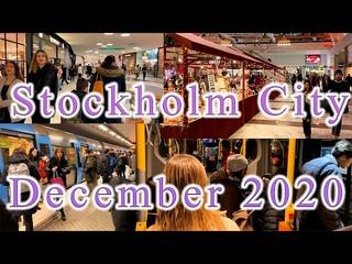 Stockholm City December 2020 Coronavirus Pandemic
