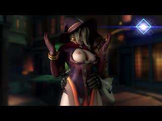 Tracer x Mercy - naked; nude; yuri; lesbian; handjob; masturbation; touched boobs; big tits; 3D sex porno hentai; [Overwatch]