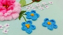 Hand Embroidery: Blue flowers | rococo buttonhole stitch