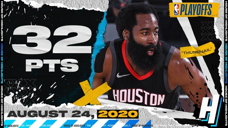 James Harden 32 Points 15 Ast 8 Reb Full Game 4 Highlights vs Thunder August 24 2020 Playoffs