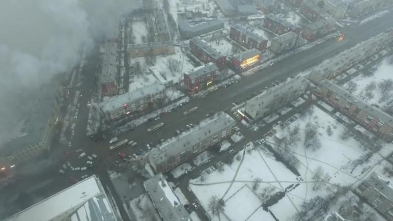 ПОЖАР В КЕМЕРОВО ТЦ Зимняя вишня 25 03 2018