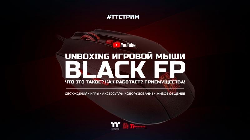 ТТСТРИМ: мышка антишпион TteSPORTS Black FP