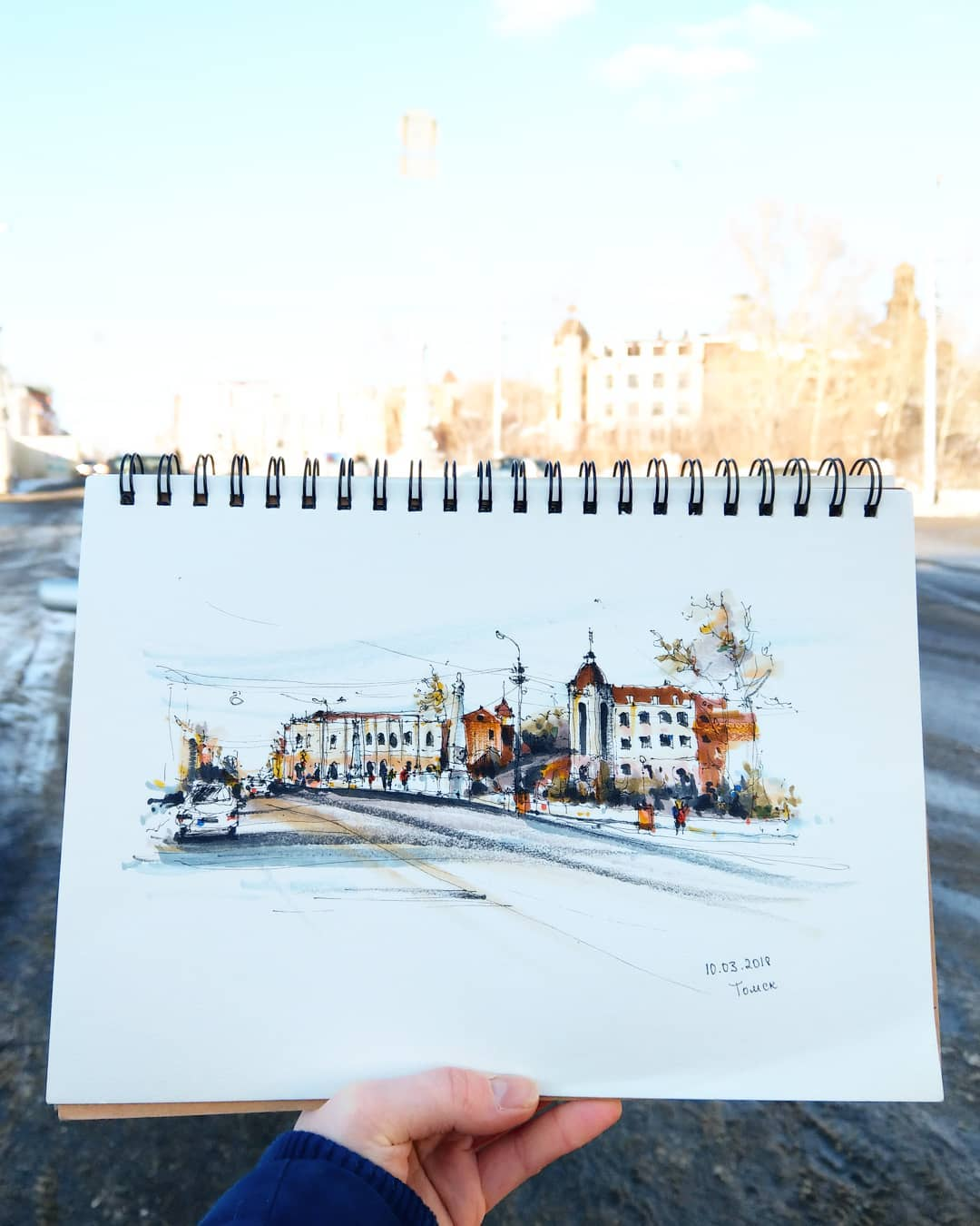 Весенний Томск в рисунках