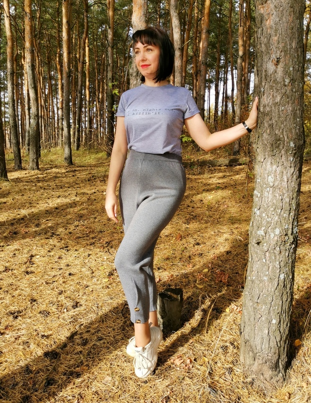 Тёплые трикотажные штанишки от #Ezsskj