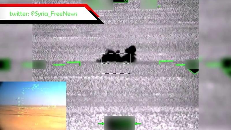 Работа Ка 52 Аллигатор с применением ПТУР Вихрь 1 в Сирии