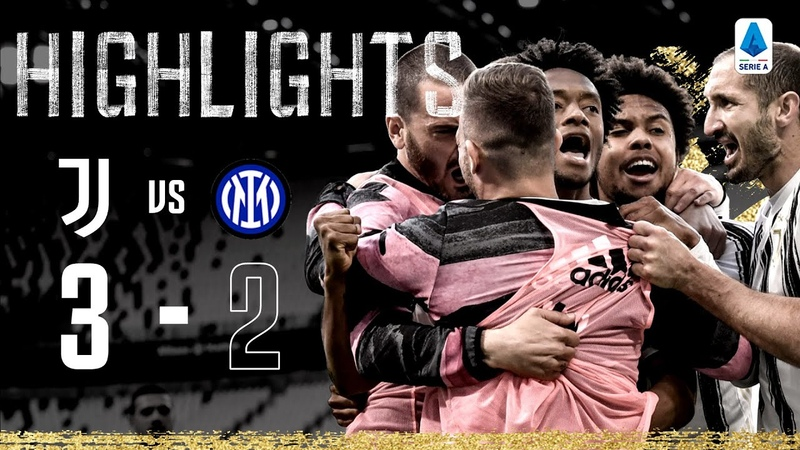Juventus 3 2 Inter Milan Cuadrado scores dramatic late winner Serie A Highlights