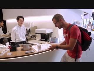 Подача кофе в Японии при помощи современных технологий -