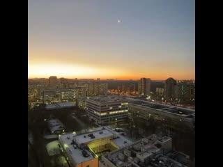Рассвет в Москве. Таймлапс