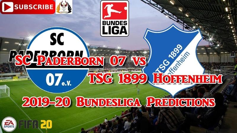 SC Paderborn 07 vs TSG 1899 Hoffenheim | 2019-20 German Bundesliga | Predictions FIFA 20