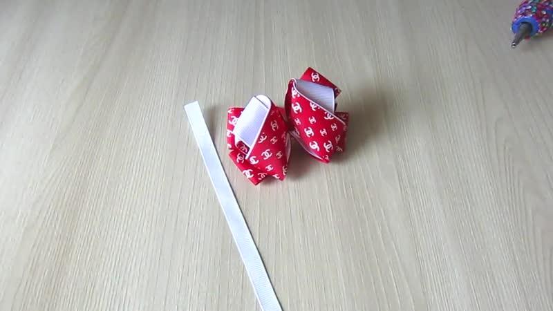 Бантики из репсовой ленты 2,5 см. МК Канзаши Анна Терехова