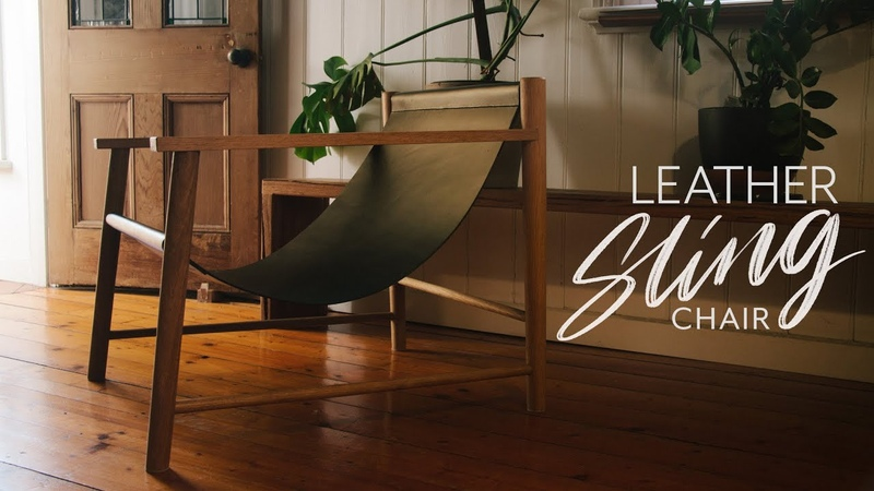 Leather Sling Lounge Chair - DIY Build