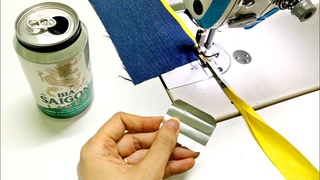 Good sewing tip from beer cans | Sewing tricks