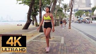 Pattaya 4K Walk 2021 Jan 21. Walkingstreet, BeachRoad, 2ndRoad.