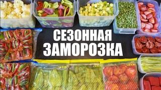 Сезонная ЗАМОРОЗКА овощей на зиму