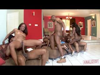 Diamond Jackson & Jada Fire & Monique - Black Ass Orgy