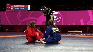 Round 2 Women's GP GI - 58 kg: M. KAPUSCINSKA (POL) v. O. ZHURAVLEVA (RUS)